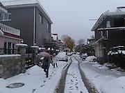 first snow, Beiqijiazhen, Changping District, Beijing, China