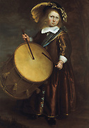 Child with a drum': School of Rembrandt van Rijn, Dutch 17th century painter.