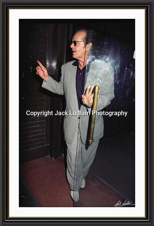 Jack Nicholson London Tramp Mayfair<br /> A3 Museum-quality Archival signed Framed Print (Limited Edition of 25)