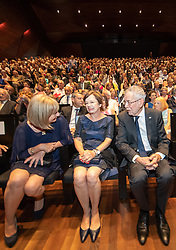 04.07.2019, Festspielhaus, Erl, AUT, Tiroler Festspiele Erl, Eröffnung der Sommersaison 2019/20, im Bild v.l. Landesrätin Beate Palfrader, Doris Schmidauer, Bundespräsident Alexander Van der Bellen // during the Tyrolean festival Erl opening of the summer season 2019/20 at the Festspielhaus in Erl, Austria on 2019/07/04. EXPA Pictures © 2019, PhotoCredit: EXPA/ Johann Groder