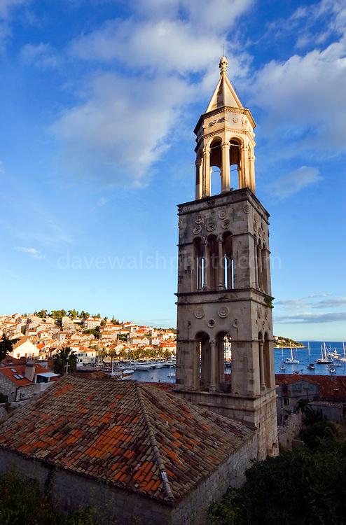 Saint Mark's Belltower, Hvar, Croatia, remains of a Dominican monastery.