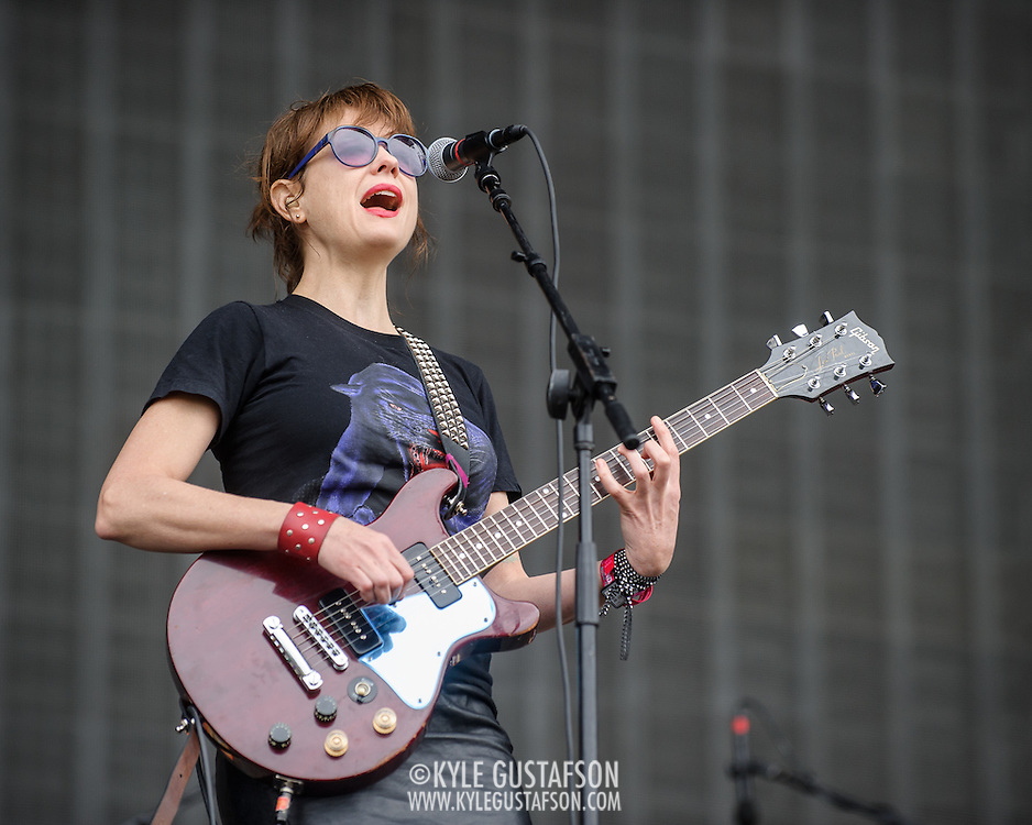 WASHINGTON, DC - September 26th, 2015 - Ex Hex performs at the 2015 Landmark Festival in Washington, D.C.  (Photo by Kyle Gustafson / For The Washington Post)