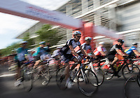 LONDON UK 31ST JULY 2016:  Cyclists Start Prudential RideLondon Surrey 100 . The Prudential RideLondon-Surrey 100 Sportive in London 31st July 2016<br /> <br /> Photo: Jon Buckle/Silverhub for Prudential RideLondon<br /> <br /> Prudential RideLondon is the world's greatest festival of cycling, involving 95,000+ cyclists – from Olympic champions to a free family fun ride - riding in events over closed roads in London and Surrey over the weekend of 29th to 31st July 2016. <br /> <br /> See www.PrudentialRideLondon.co.uk for more.<br /> <br /> For further information: media@londonmarathonevents.co.uk