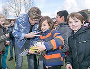 2018-030-21. DVSU, Utrecht. Kick-off sportplaatjesactie. Op de foto: Tim Douwsma