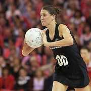 Anna Scarlett, New Zealand, in action during the New Zealand V England, New World International Netball Series, at the ILT Velodrome, Invercargill, New Zealand. 6th October 2011. Photo Tim Clayton...