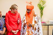 """2-11-2017 ABUJA NIGERIA  Ontmoeting met de Mallam Muhammad Sanusi Emir van de deelstaat Kano Koningin Maxima  speech tijdens bezoek aan EFInA (Enhancing Financial Innovation & Access) evenement 'The Role of Government in driving Financial Inclusion in  Nigeria'. Begroeting door mevrouw L. Quaynor, general manager EFInA, mevrouw Ladipo, voorzitter RvB EFInA, de heer Akerele voorzitter RvB EFInA. Koningin Maxima bezoekt in haar hoedanigheid van speciale pleitbezorger van de secretaris-generaal van de Verenigde Naties voor inclusieve financiering voor ontwikkeling (inclusive finance for development) de Federale Republiek Nigeria van maandag 30 oktober tot en met donderdag 2 november 2017.  Copyright Robin Utrecht <br /> <br /> 2-11-2017 ABUJA NIGERIA Ontmoeting met de Mallam Muhammad Sanusi Emir van de deelstaat Kano  Queen Maxima speech during a visit to EFInA (Enhancing Financial Innovation & Access) event """"The Role of Government in Driving Financial Inclusion in Nigeria"""". Greetings by Mrs L. Quaynor, General Manager EFInA, Ms Ladipo, Chairman of the Supervisory Board EFInA, Mr Akerele President RVV EFInA. Queen Maxima, in her capacity as Queen maxima visits Nigeria as United Nation secretary Generals special advocate for inclusive Finance for developments., visits the Federal Republic of Nigeria from Monday 30 October to Thursday, November 2, 2017. Copyright Robin Utrecht"""
