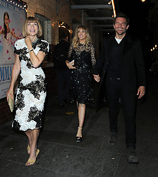 Suki Waterhouse and Bradley Cooper dinner date with Anna Wintour at J Sheekey restaurant in London, UK. 15/09/2014<br />