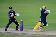 Gareth Berg of Hampshire batting & Ryan Davies of Somerset during the Royal London One Day Cup match between Hampshire County Cricket Club and Somerset County Cricket Club at the Ageas Bowl, Southampton, United Kingdom on 2 August 2016. Photo by David Vokes.