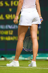 LONDON, ENGLAND - Tuesday, June 24, 2008: Maria Sharapova (RUS), wearing shorts, during her first round match on day two of the Wimbledon Lawn Tennis Championships at the All England Lawn Tennis and Croquet Club. (Photo by David Rawcliffe/Propaganda)
