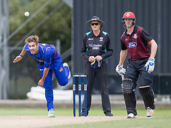 Otago Volts' Michael Rippon, left, bowls as Canterbury's Michael Pollard backs up in the Ford Trophy one-day domestic cricket match at the University of Otago Oval, Dunedin, New Zealand, Saturday, January 27, 2018. Credit:SNPA / Adam Binns ** NO ARCHIVING**