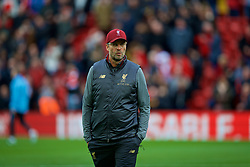 LIVERPOOL, ENGLAND - Sunday, October 7, 2018: Liverpool's manager Jürgen Klopp before the FA Premier League match between Liverpool FC and Manchester City FC at Anfield. (Pic by David Rawcliffe/Propaganda)