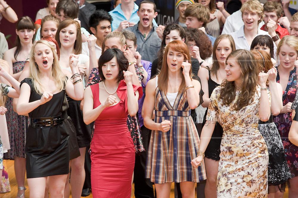 New Zealand School of Dance graduation ceremony at Te Whaea, Wellington, NZ on 29 November 2009.