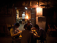 late night dinner in a Chengdu, Sichuan, China 'fly' restaurant