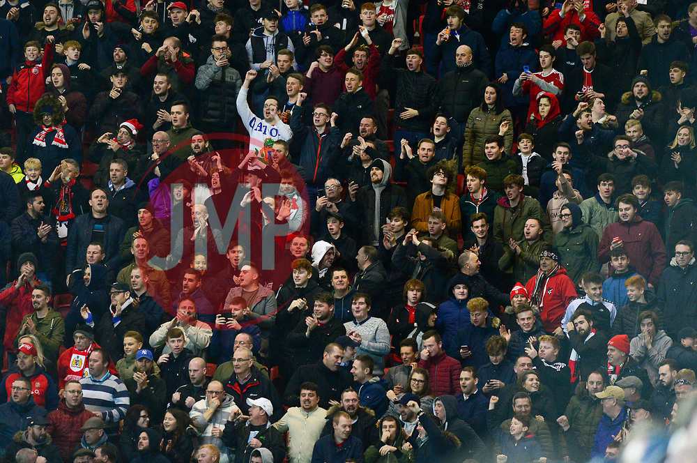 Bristol City fans celebrate - Mandatory by-line: Dougie Allward/JMP - 26/12/2017 - FOOTBALL - Ashton Gate Stadium - Bristol, England - Bristol City v Reading - Sky Bet Championship