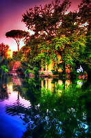 """Riflessioni di tramonto di Villa Borghese - Roma""Sunset reflections of Villa Borghese – Rome""…<br />