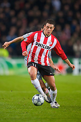 EINDHOVEN, THE NETHERLANDS - Tuesday, December 9, 2008: PSV Eindhoven's Nordin Amrabat in action against Liverpool during the final UEFA Champions League Group D match at the Philips Stadium. (Photo by David Rawcliffe/Propaganda)