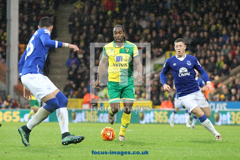 Cameron Jerome of Norwich in action during the Barclays Premier League match at Carrow Road, Norwich<br /> Picture by Paul Chesterton/Focus Images Ltd +44 7904 640267<br /> 12/12/2015