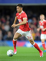 Football - 2017 / 2018 EFL (League) Cup - Third Round: Chelsea vs. Nottingham Forest<br /> <br /> Tyler Walker of Forest who is the son of the Forest International Des Walker at Stamford Bridge.<br /> <br /> COLORSPORT/ANDREW COWIE