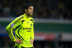 BIRMINGHAM, ENGLAND - Tuesday, December 4, 2007: Chelsea's Michael Ballack in action against Birmingham City during the Premiership match at St Andrews. (Photo by David Rawcliffe/Propaganda)