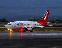 A new day dawns as Air North's Boeing 737-500 C-GANH prepares for departure to Yellowknife and Ottawa.