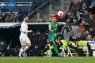 MADRID, SPAIN. January 24, 2018 - Gabriel Pires kicks the ball. Real Madrid pushed right to the end but were ultimately unable to get the better of Leganés, who scored twice, once in either half, to knock the Whites out of the Copa del Rey. . Photos by Antonio Pozo | PHOTO MEDIA EXPRESS