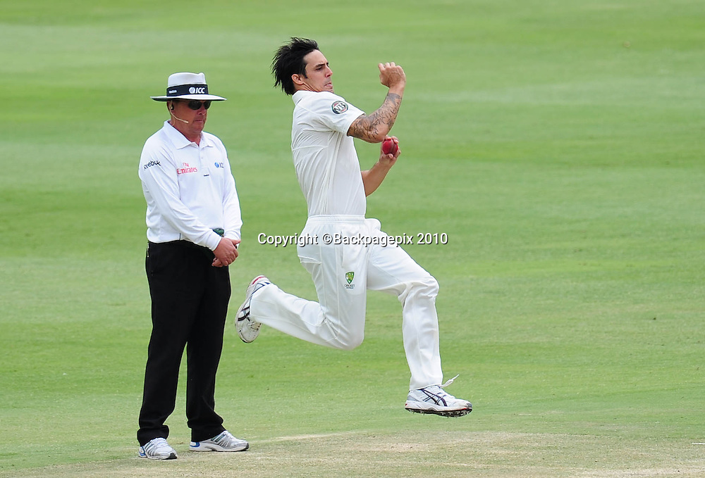 Mitchell Johnson of Australia, Cricket - 2011 Sunfoil Test Series - South Africa v Australia - Day 4 - Wanderers Stadium, Johannesburg. 20 November 2011<br /> &copy;Chris Ricco/Backpagepix