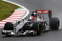 Adrian Sutil (GER) Sauber C33.<br /> Japanese Grand Prix, Sunday 5th October 2014. Suzuka, Japan.