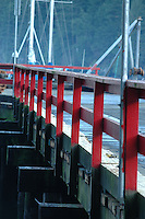 The rail beside the ferry dock on Bowen Island, BC