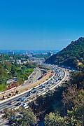 Los Angeles, CA, Interstate, 405, Freeway, Sepulveda pass, , Vertical Image