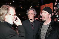 Benny Andersson (Abba), Neil McCormick (Daily Telegraph) and The Edge (U2)