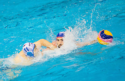 Andzelo Setka of Primorje vs Blai Guel Mallarach of Olympiacos during water polo match between Primorje Erste Bank (CRO) and Olympiacos Piraeus (GRE) in 8th Round of Champions League 2016, on April 16, 2016 in Kantrida pool, Rijeka, Croatia. Photo by Vid Ponikvar / Sportida