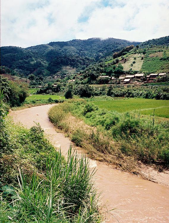 River near Ban Lorcha hill-tribe community