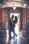 Vesna & Terry's beautiful fall engagement session at Hacienda Sarria