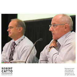 Tony Holden;Rob Fenwick at the Spada Conference 2005: Small Country, Big Picture at the Intercontinental Hotel, Wellington, New Zealand.