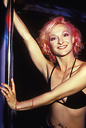 Dancer with pink hair. Ibiza 1999.