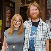 London, England, UK. 27th July 2017. Gareth Cooper is a musical director and girlfriend Gemma Woods attends the opening day The Hunting of the Snark at Vaudeville Theatre, The Strand.