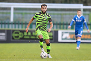 Forest Green Rovers Dominic Bernard(3) runs forward during the The FA Cup match between Forest Green Rovers and Carlisle United at the New Lawn, Forest Green, United Kingdom on 30 November 2019.