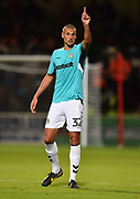Haydn Hollis (32) of Forest Green Rovers during the Carabao Cup match between Swindon Town and Forest Green Rovers at the County Ground, Swindon, England on 14 August 2018.