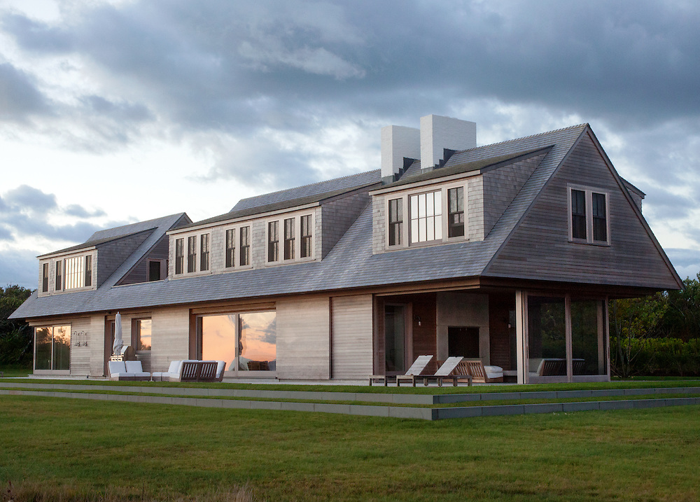 Martha's Vineyard house at dawn. Architect: Claudia Noury-Ello. Designer: Christine Lane Interiors