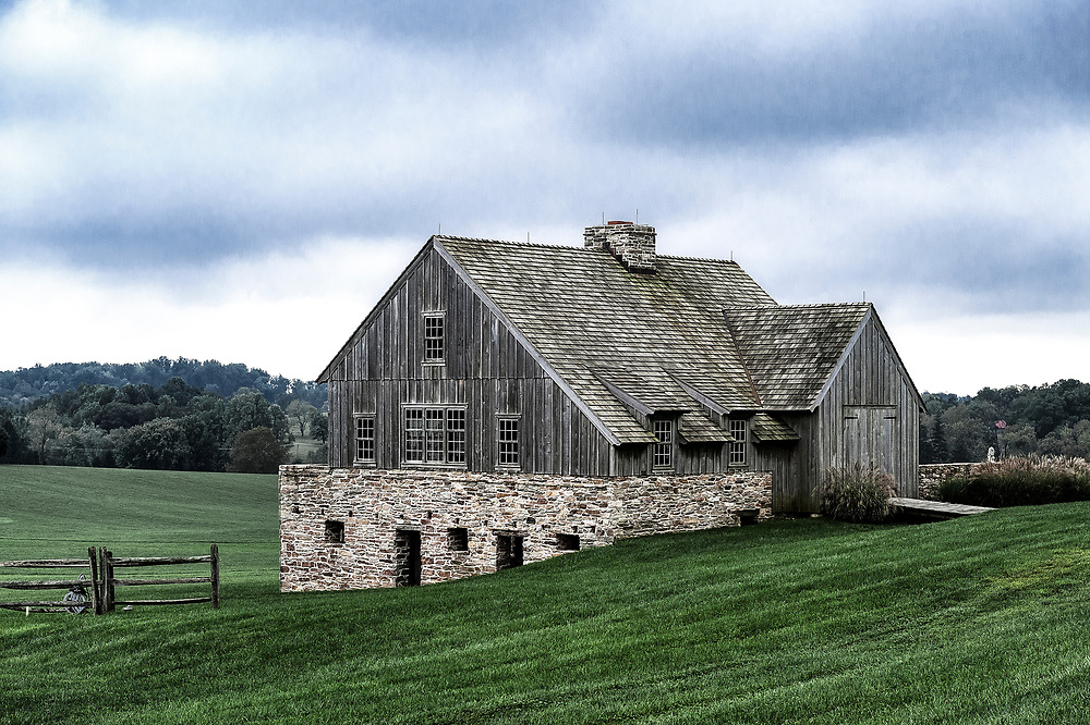 Beautiful wood and fieldstone barn, Chadds Ford, Chester County, Pennsylvania, USA