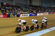 Men Team Pursuit, Switzerland, SCHIR Thery, THIERY Cyrille, PASCHE Frank, BISSEGGER Stefan, IMHOF Claudio, during the UEC Track Cycling European Championships Glasgow 2018, at Sir Chris Hoy Velodrome, in Glasgow, Great Britain, Day 2, on August 3, 2018 - Photo Luca Bettini / BettiniPhoto / ProSportsImages / DPPI - Belgium out, Spain out, Italy out, Netherlands out -