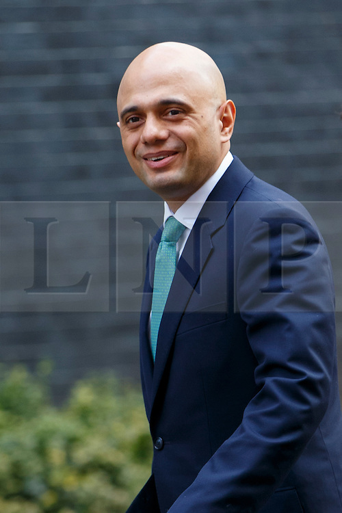 © Licensed to London News Pictures. 21/03/2016. London, UK. Business Secretary SAJID JAVID arriving at Downing Street in London on Monday, 21 March 2016. Photo credit: Tolga Akmen/LNP