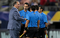 July 22, 2017 - Arlington, TX, USA - Arlington, TX - Saturday July 22, 2017: Bruce Arena during a 2017 Gold Cup Semifinal match between the men's national teams of the United States (USA) and Costa Rica (CRC) at AT&T stadium. (Credit Image: © John Dorton/ISIPhotos via ZUMA Wire)