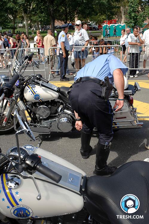 A Philadelphia Highway Patrol officer in uniform...July 4, 2009.Philadelphia, PA