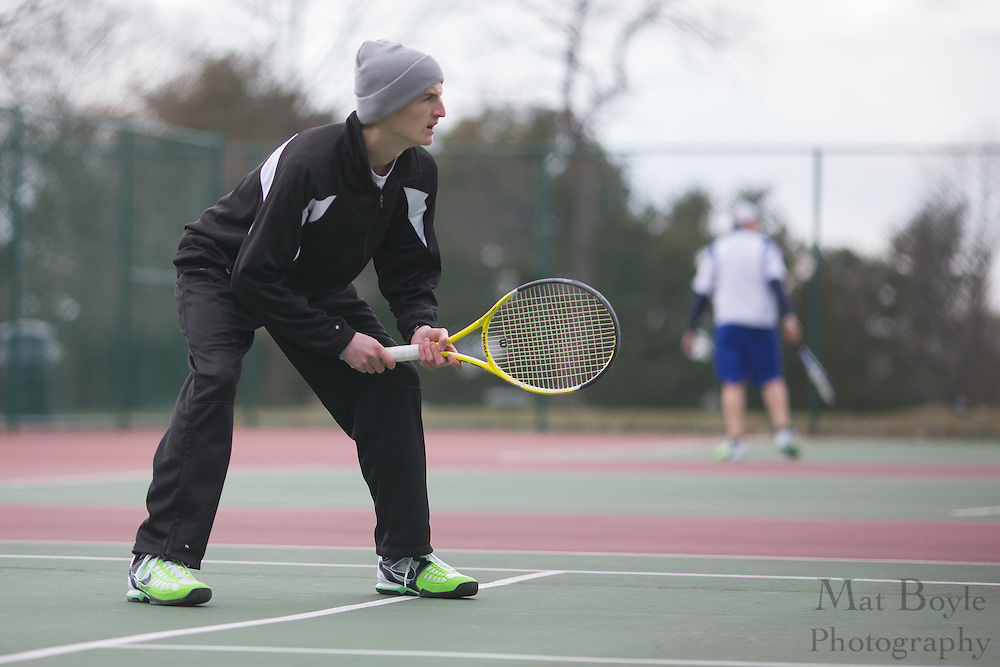 Suffolk County Community College Tennis vs Gloucester County College at Gloucester County College in Sewell, NJ on Tuesday March 26, 2013. (photo / Mat Boyle)