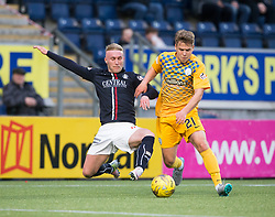 Falkirk's Craig Sibbald and Morton's Andrew Murdoch. Falkirk 0 v 1 Morton, Scottish Championship game played 18/3/2017 at The Falkirk Stadium.
