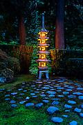 Ishidoro (石灯籠), Stone Lantern, Japanese Garden, Portland, OR.