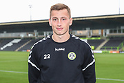 New loan signing Forest Green Rovers Ben Morris(22) during the EFL Trophy match between Forest Green Rovers and Cheltenham Town at the New Lawn, Forest Green, United Kingdom on 4 September 2018.