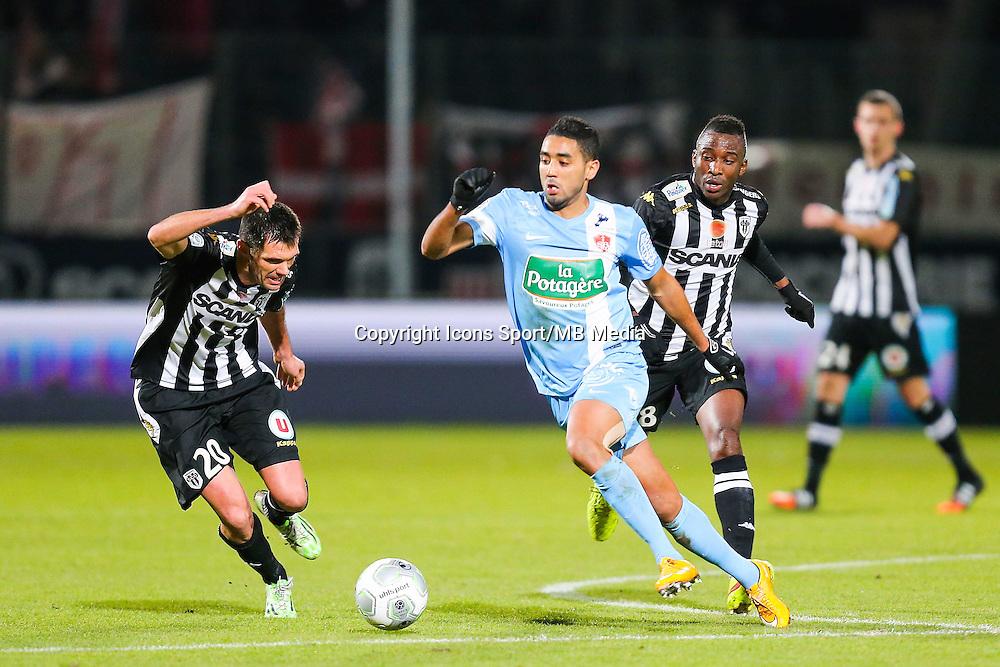 Chahir BELGHAZOUANI  - 26.01.2015 - Angers / Brest - 21eme journee de Ligue 2 -<br /> Photo : Vincent Michel / Icon Sport