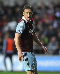 West Ham United's Kevin Nolan - Photo mandatory by-line: Joe Meredith/JMP - Tel: Mobile: 07966 386802 27/10/2013 - SPORT - FOOTBALL - Liberty Stadium - Swansea - Swansea City v West Ham United - Barclays Premier League